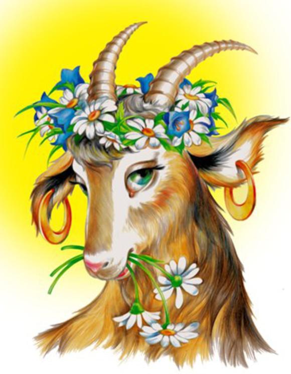 У попа была коза