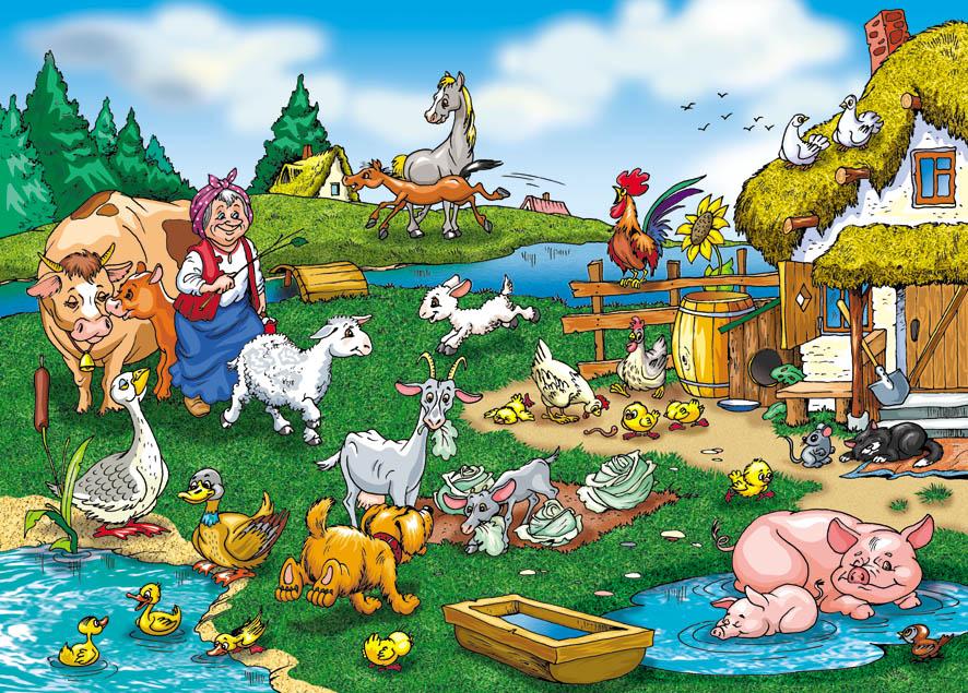 Детские картинки деревня