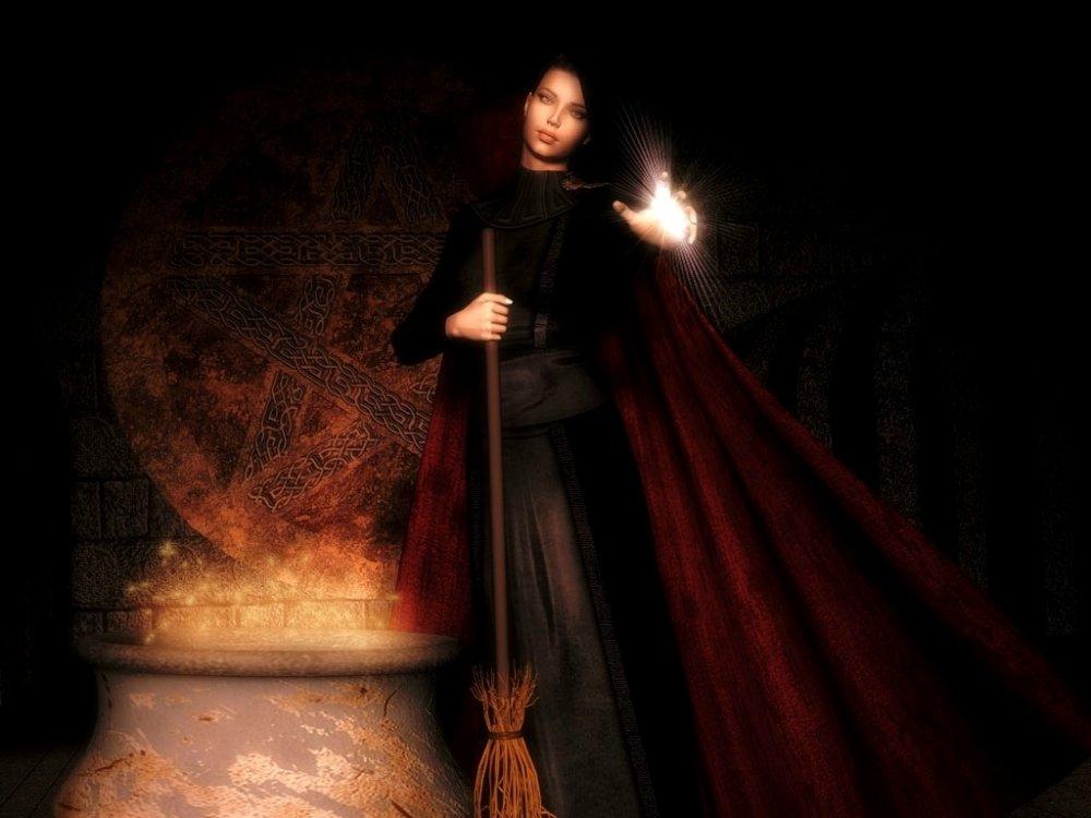 Картинки ведьм с надписями, послать