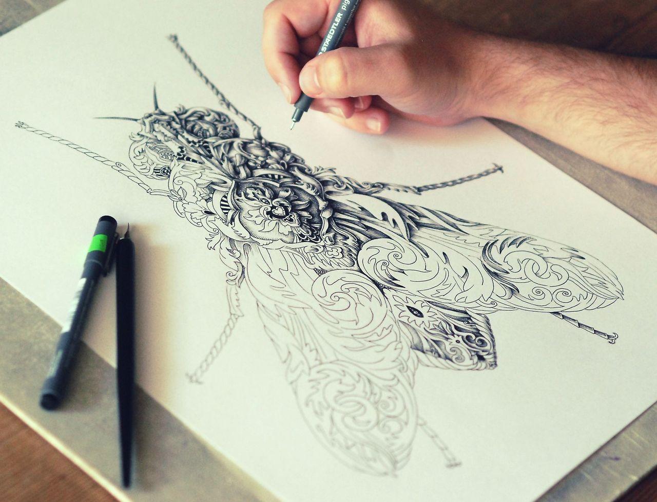 Графика на бумаге чем рисуют