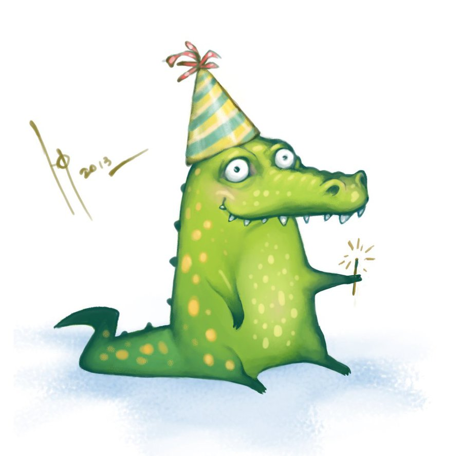 Картинка прикольного крокодила, пасхой христовой открытка