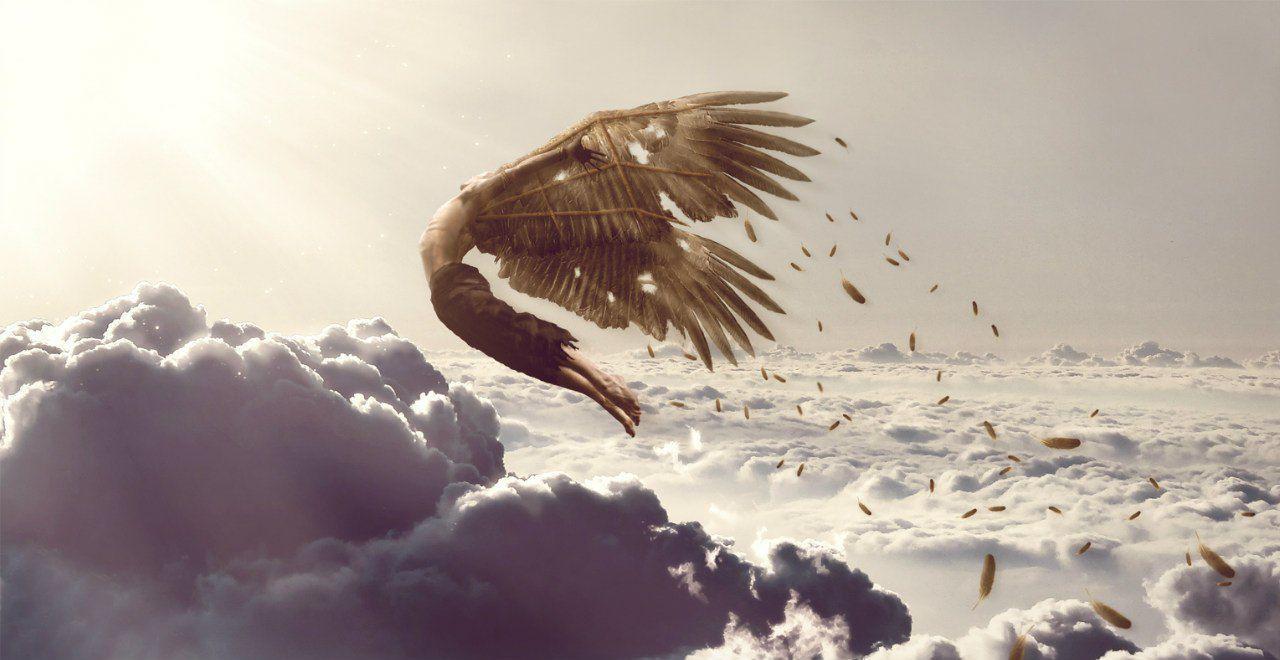 летающий человек с крыльями картинки сгоревший