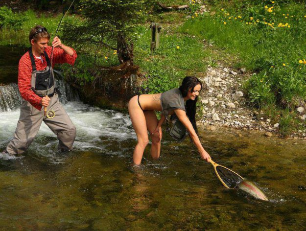 прикол фото друга на рыбалке