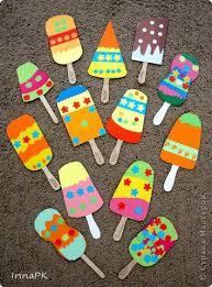 Мороженое из бумаги на палочке своими руками