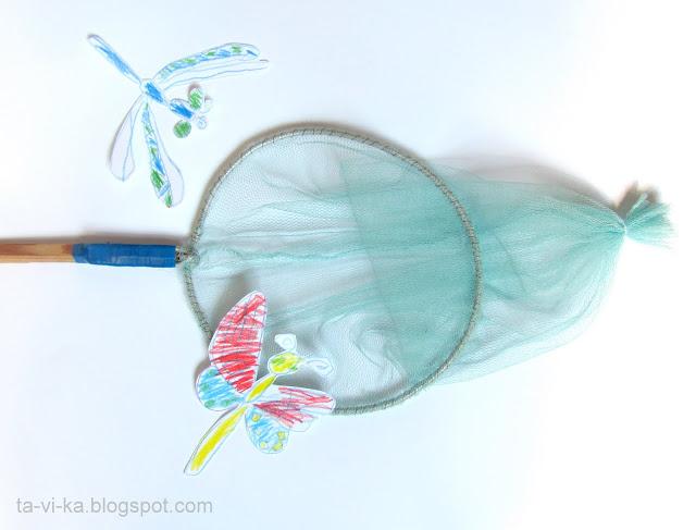 Как своими руками сделать сачок для ловли бабочек