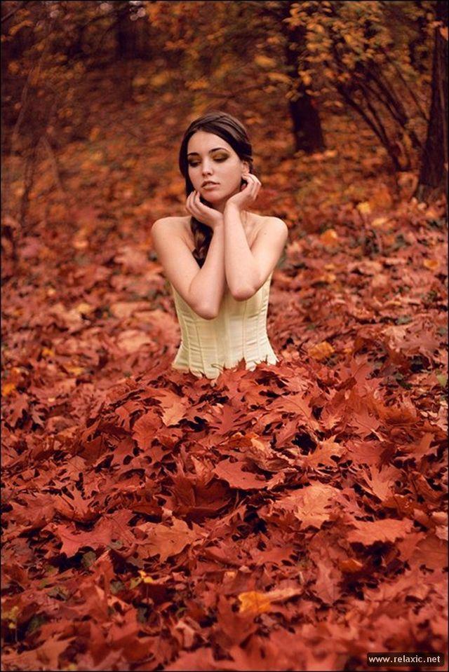Как сделать осень на фото