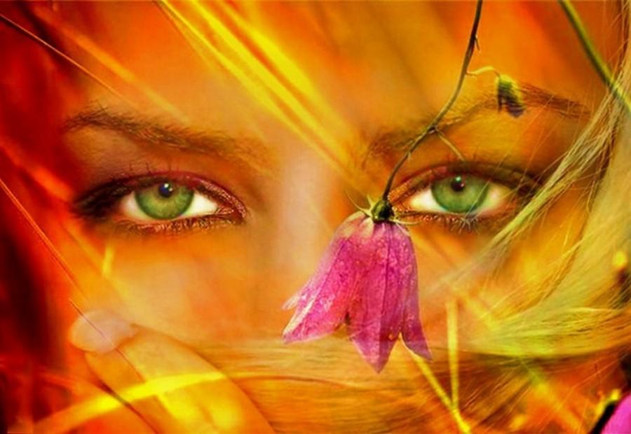 Открытки женские глаза