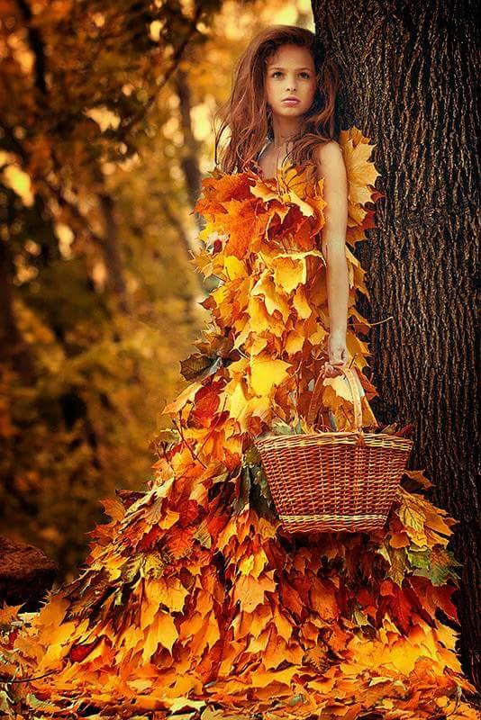 Фото красивых платьев осень