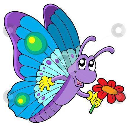 бабочка детская картинка