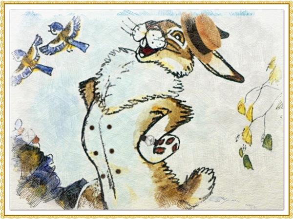 Рисунок из сказки про храброго зайца