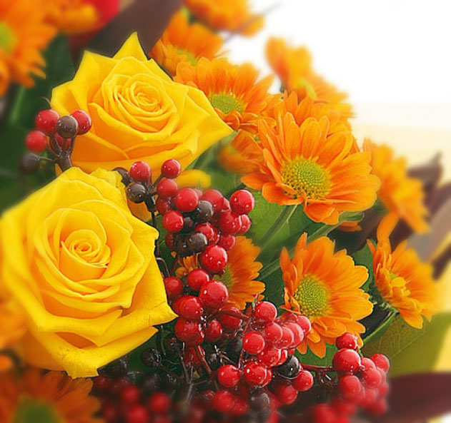 Открытки букетов осенних цветов, рукодельных