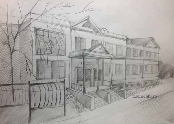 Как нарисовать школу