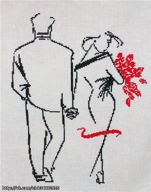 Вышивка крестом супружеская пара