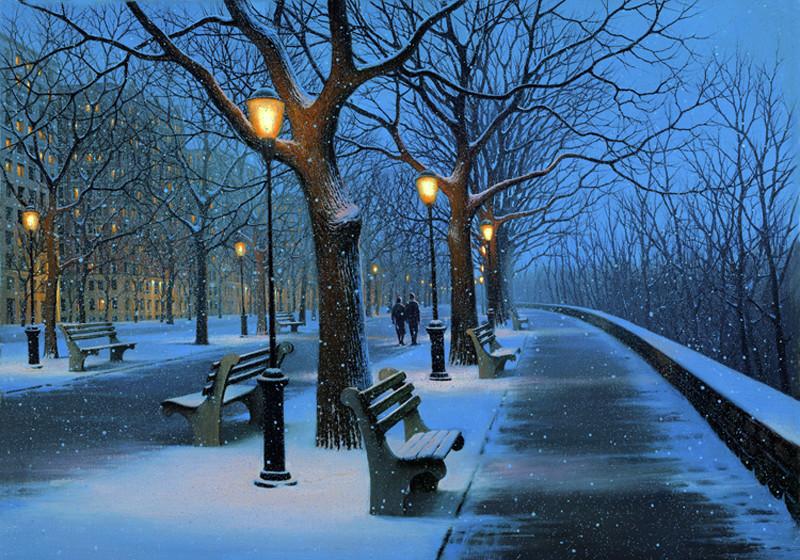 Зимний парк гифка, открытка своими руками