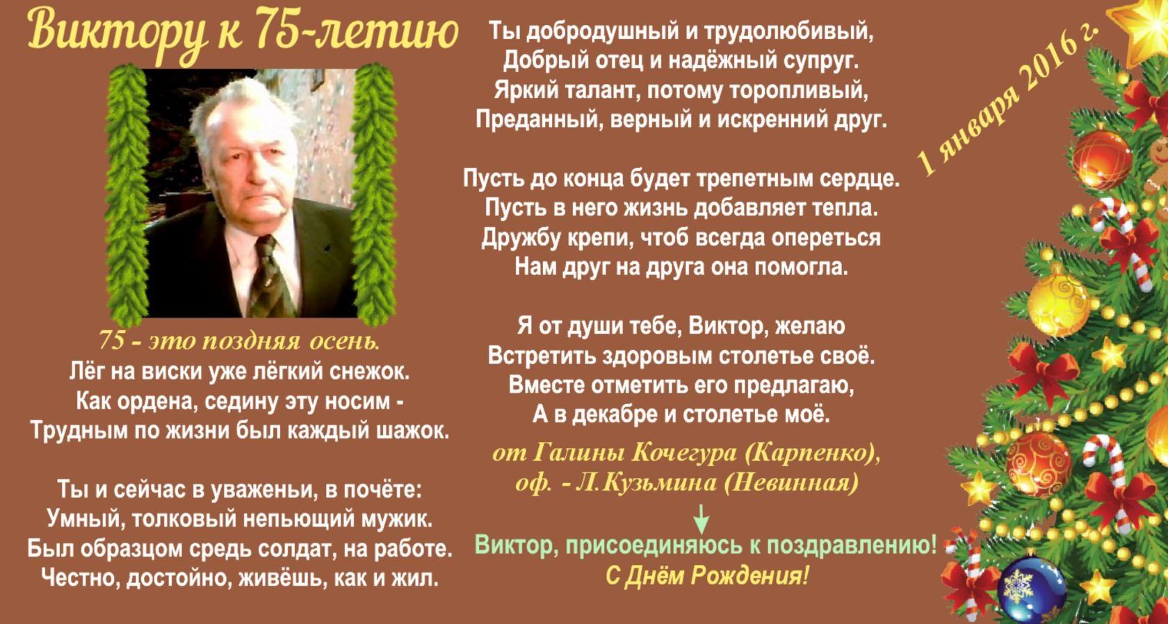 Папе 75 лет поздравления с