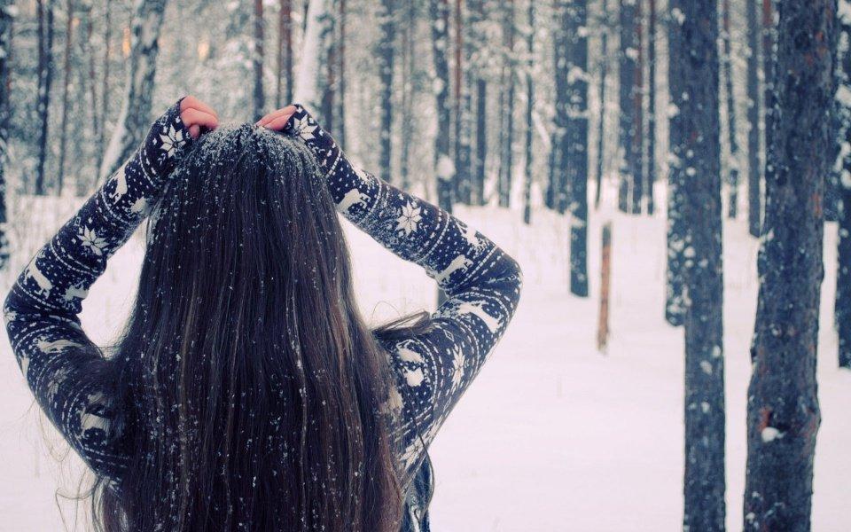 Зимние девушек на аву