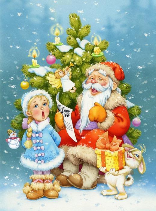 Открытки с новым годом с детьми