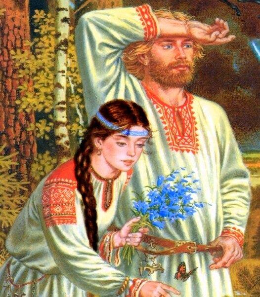 Славянская семья рисунки