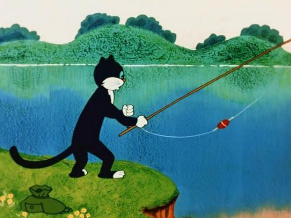 мультфильм где рыбак
