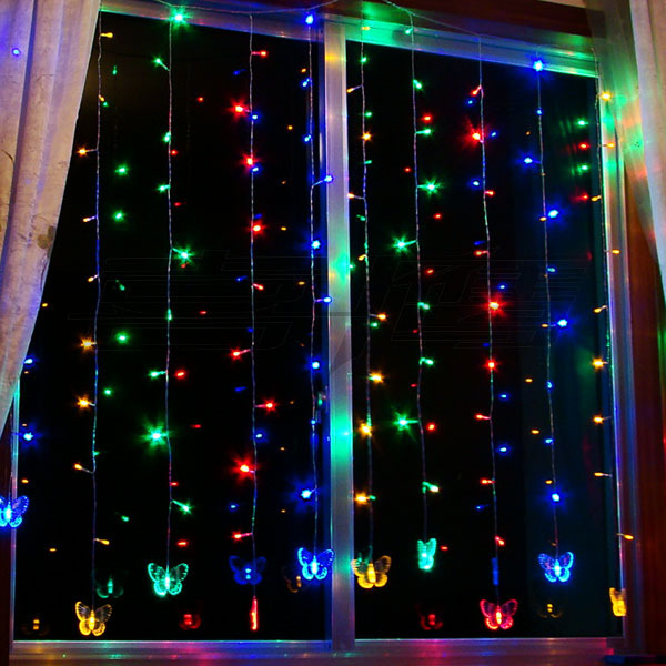Новогодняя гирлянда на окно как сделать