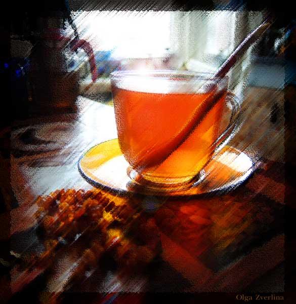 Чай с корицей. Фотоарт О.Зверлиной