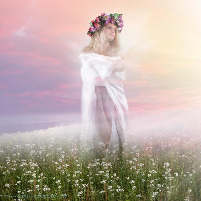 Картинки весна девушка идет
