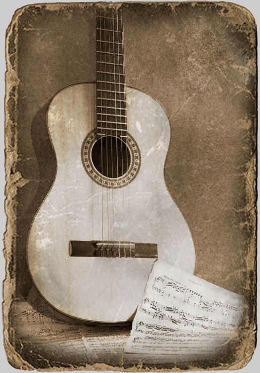 фото гитары с нотами фото