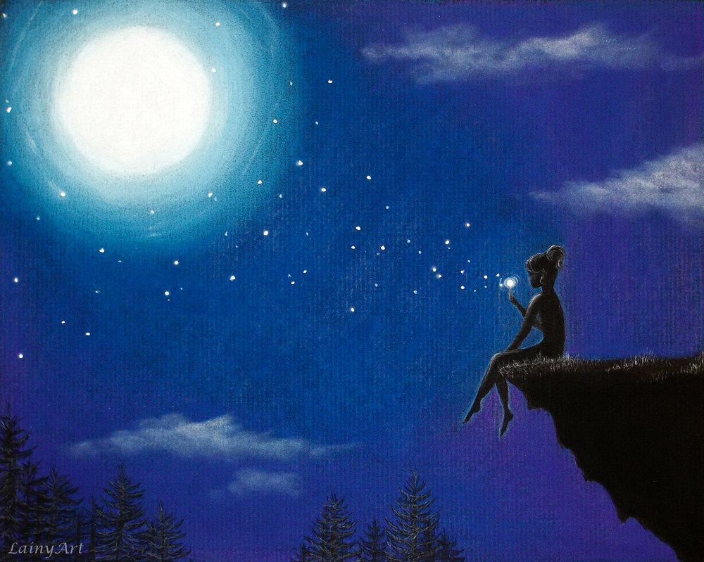 Звёзды ночью светят и рисуют наши мечты