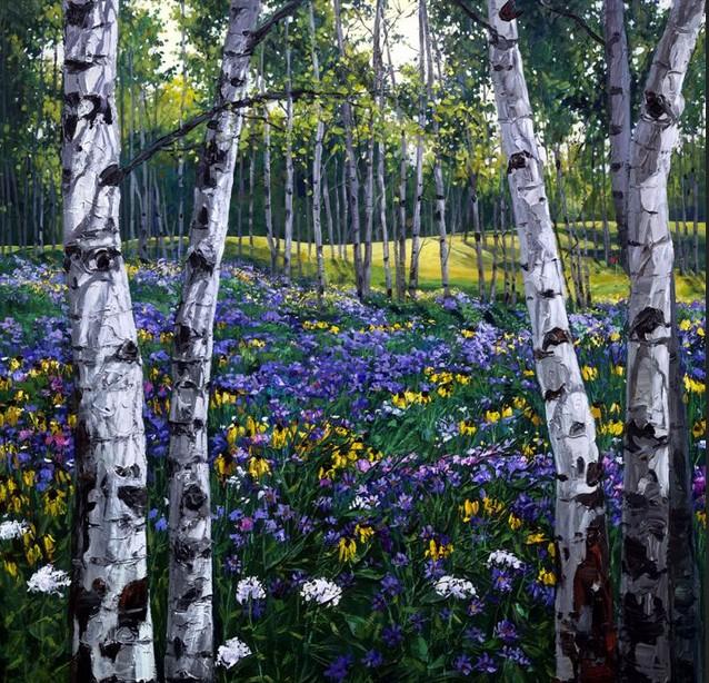 картинки с березами и цветами