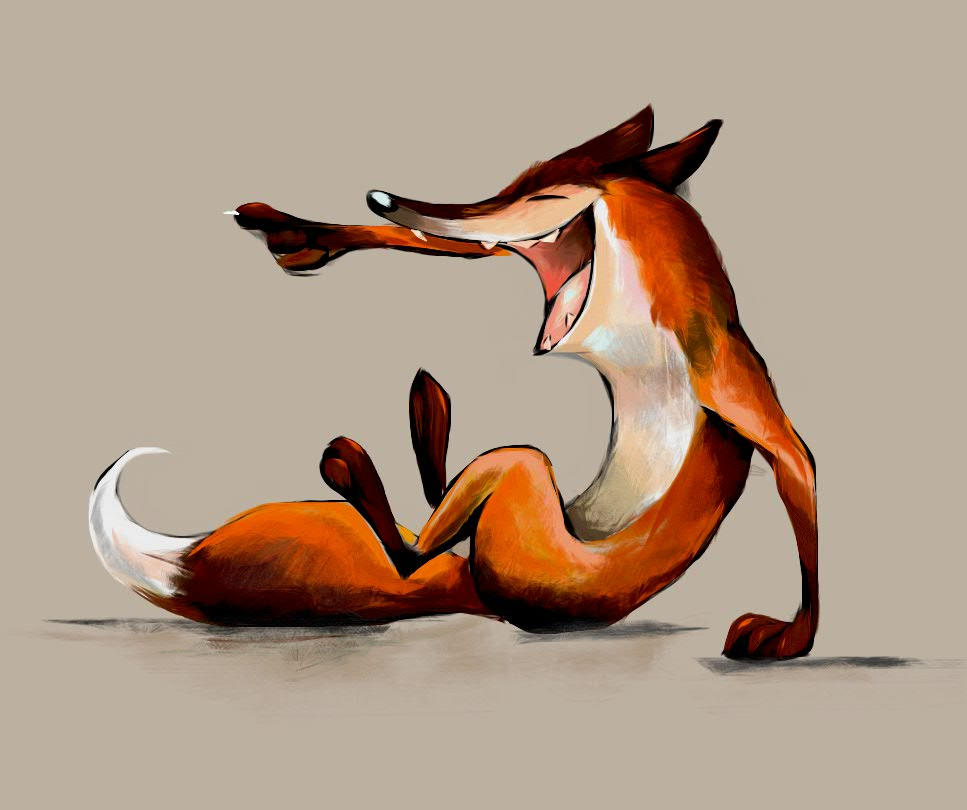 Картинка веселый лис