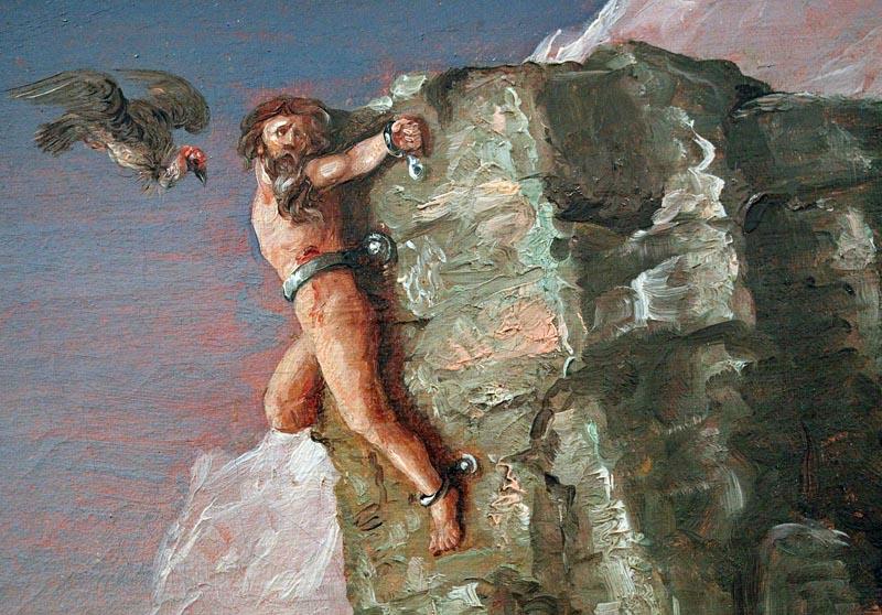 кто клевал железа  прикованного для скале прометея