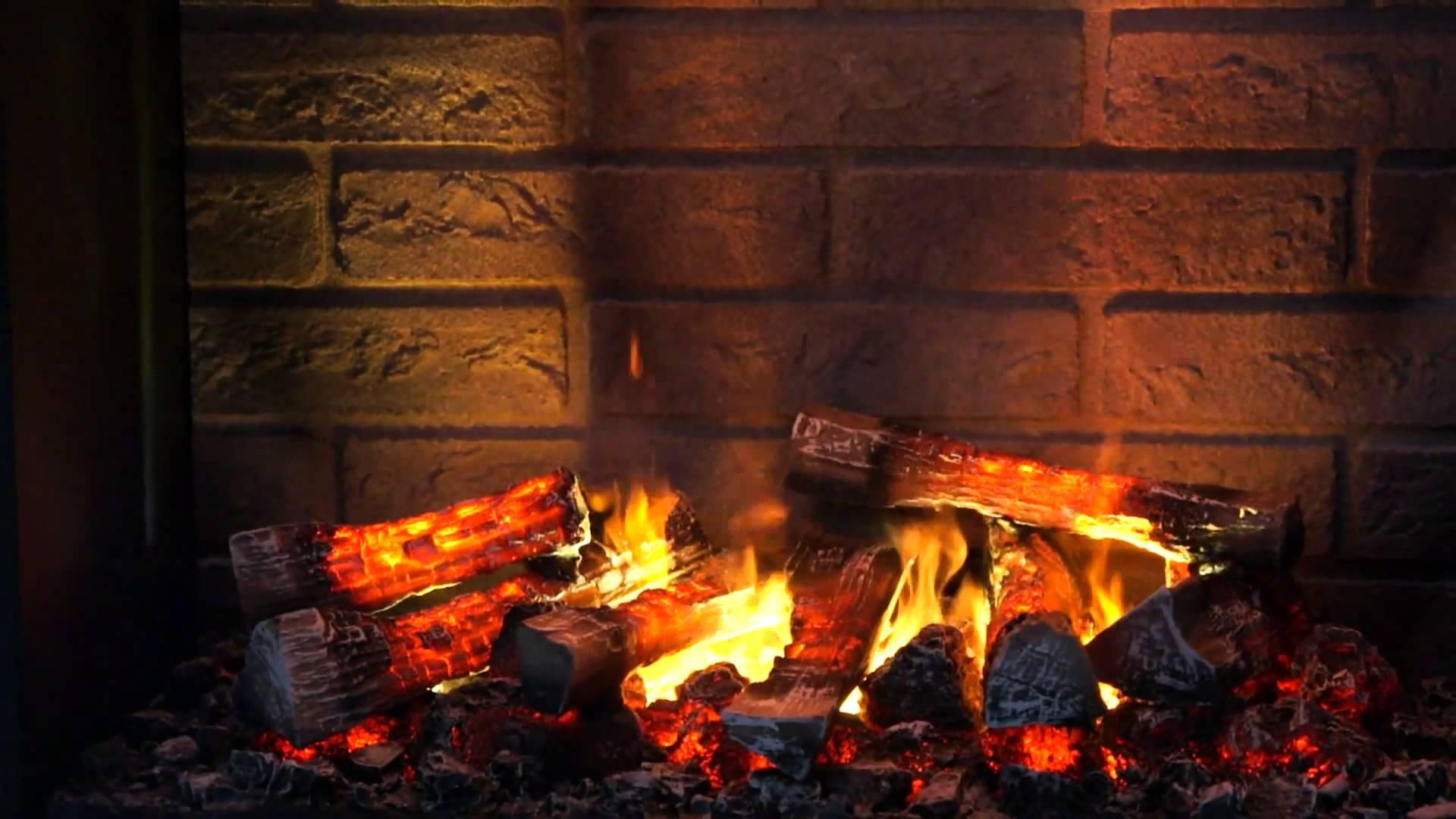fireplace firewood flicker flame christmas - HD1920×1080