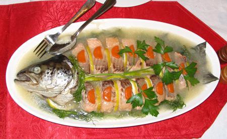 заливное из горбуши рецепт с фото