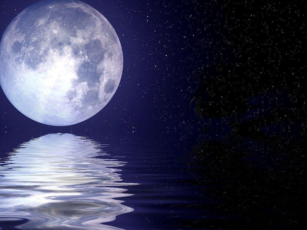 moon and stars - HD1024×768