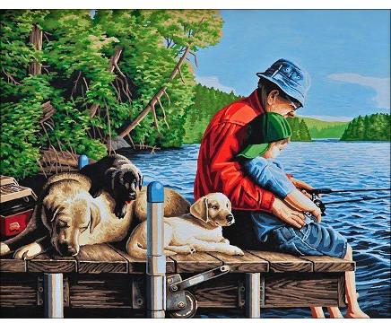 сочинение я и мой дедушка на рыбалке