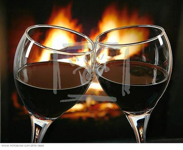 Открытки за бокал вина