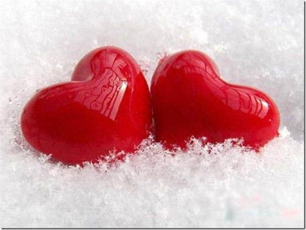фото двух сердец