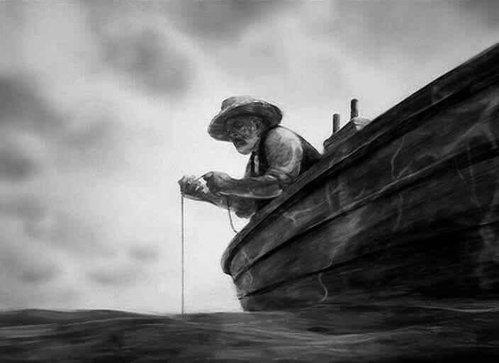 кого ловил старик и море