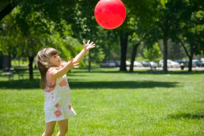 мяч ловить