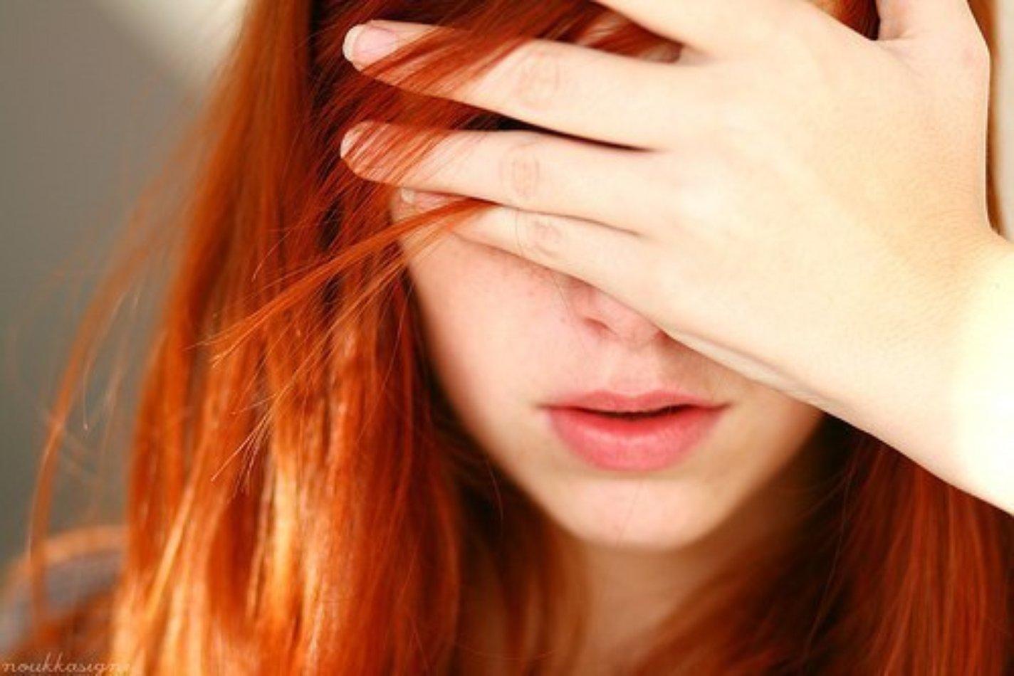 Рыжие девушки без лица 11 фотография