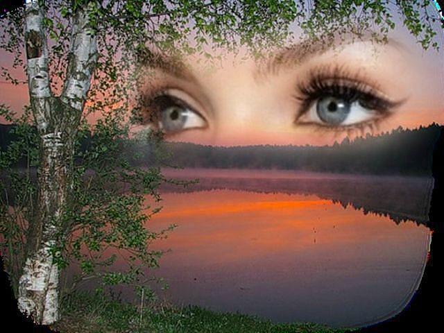 на себе ловлю твой взгляд в нем отражается закат