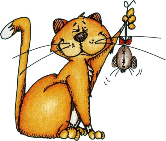 картинки для детей кот ловит мышей