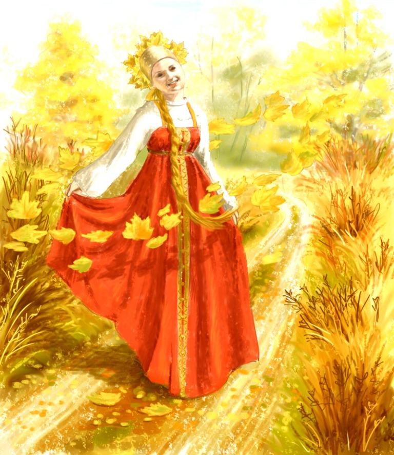 Картинках, картинка королева осень для детей