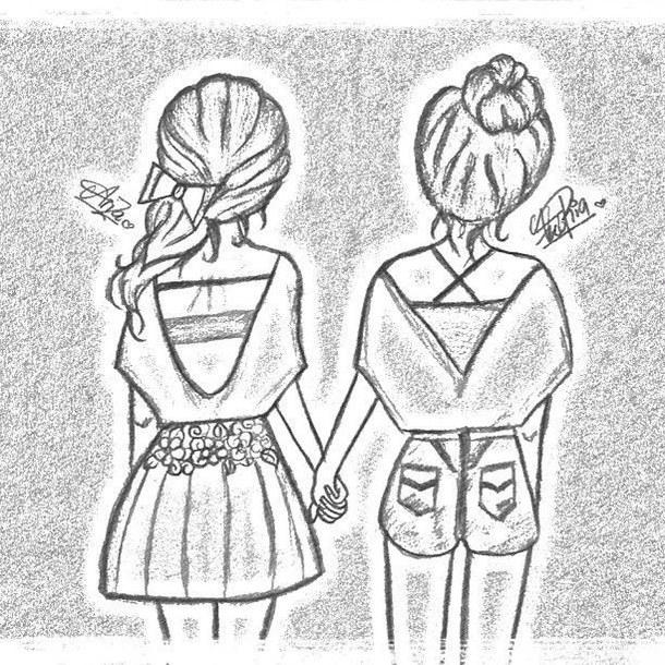 Чего нарисовать подруге поэтапно