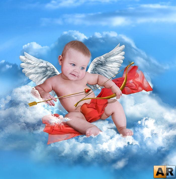 обои на рабочий стол ангелочки дети № 114852  скачать