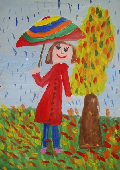 детские рисунки красками про природу