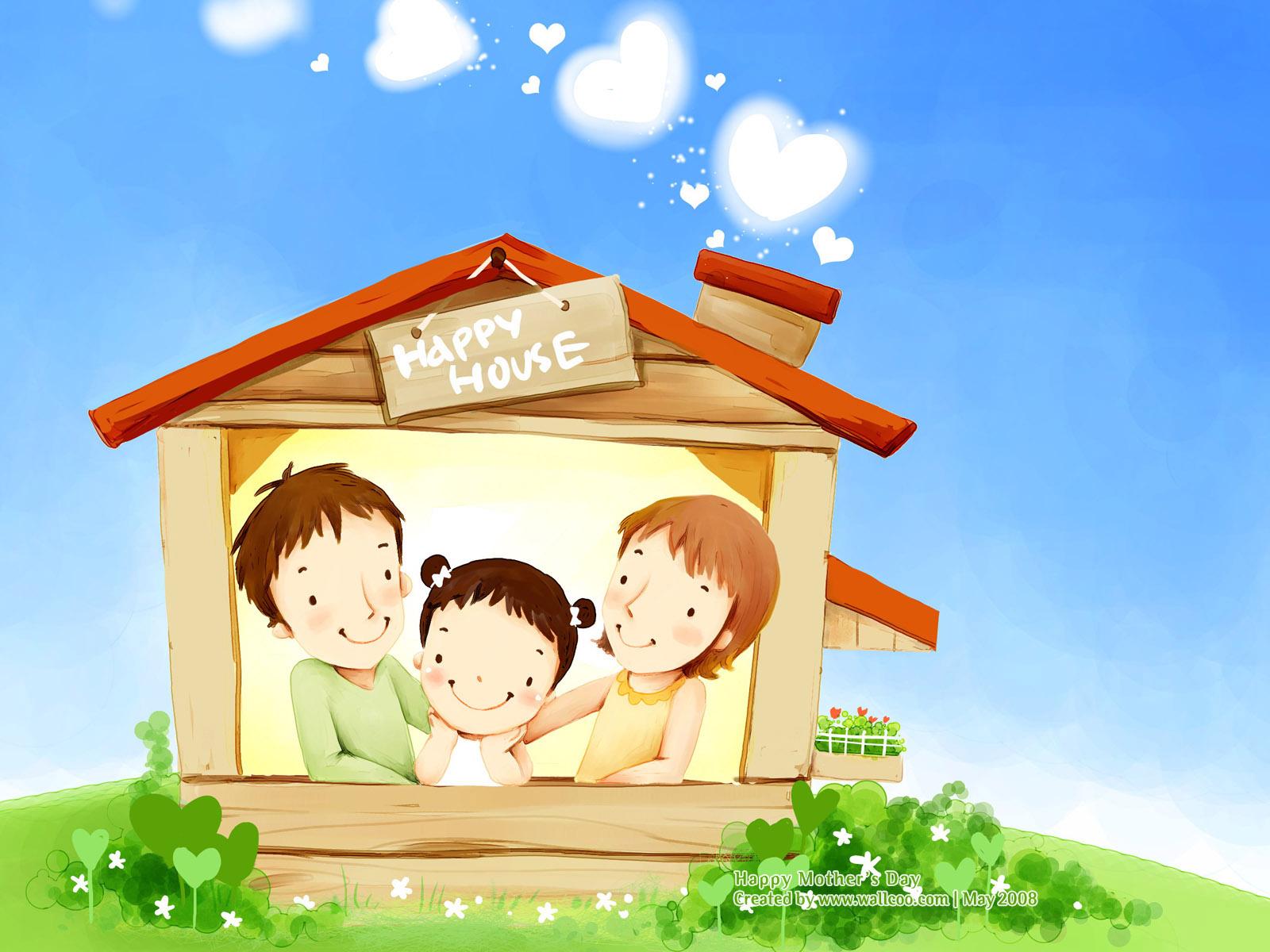 Картинка дом для семьи для детей