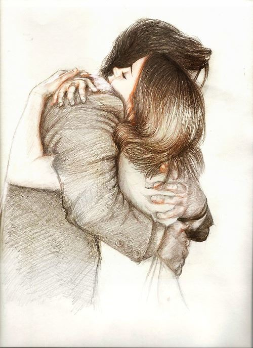 Фото рисунки парня с девушкой