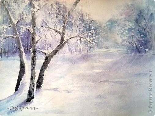 Триолет Зима рисует акварели (Василиска 3) / Стихи.ру