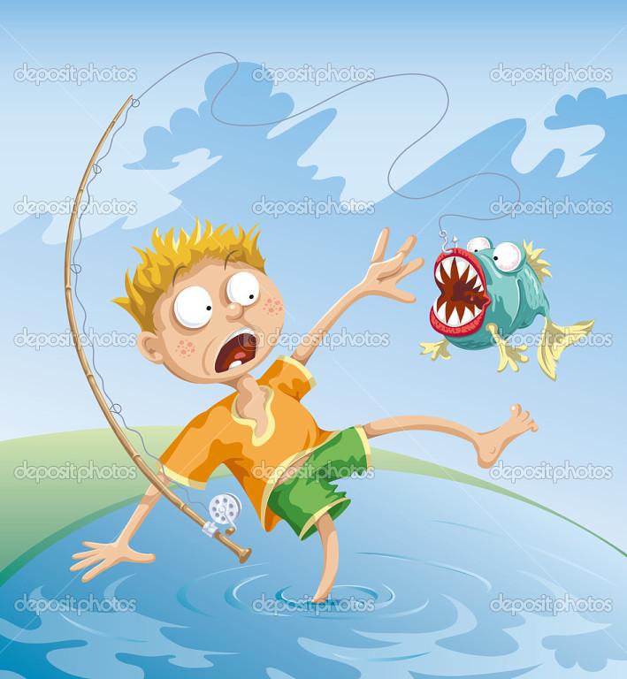 сонник ловить рыбу сачком женщине